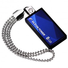 USB flash disk Silicon Power Drive Touch 810, 8GB, USB 2.0, modrý