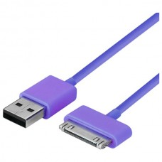 Muvit pro iPHONE - datový a nabijecí kabel pro zařízení Apple, fialový