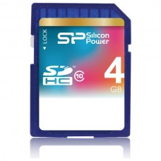 Paměťová karta Silicon Power SDHC Class 10, 4GB